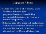 topcoats seals