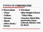 types of chromates