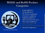 weee and rohs product categories