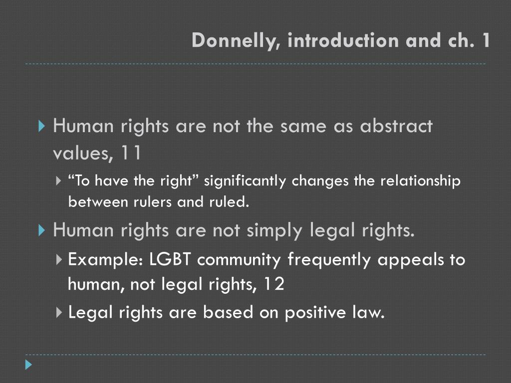 Donnelly, introduction and ch. 1
