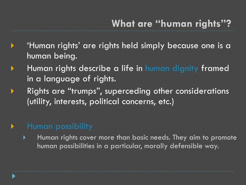 """What are """"human rights""""?"""