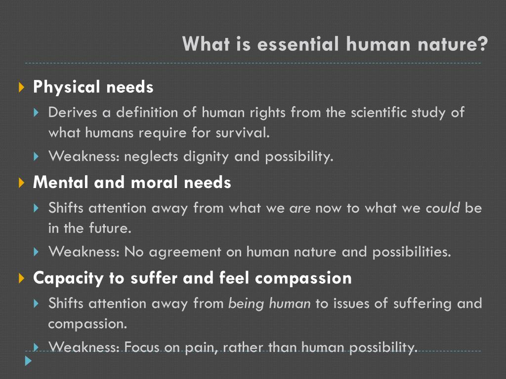 What is essential human nature?