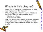 what s in this chapter