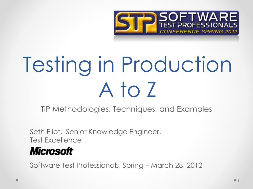 testing in production a to z l.