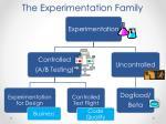 the experimentation family