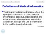 definitions of medical informatics5