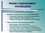 metalex implementation microstructure