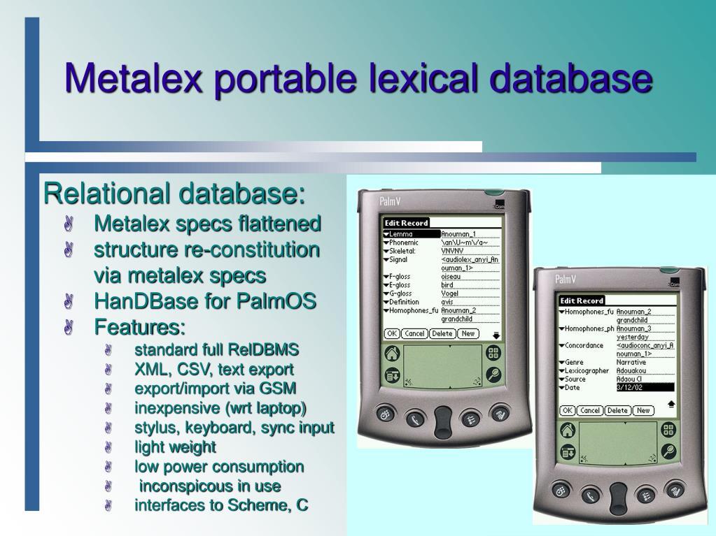 PPT - Hypermedia Lexica and Lexicon Metadata PowerPoint ...