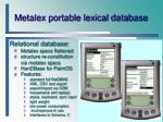 metalex portable lexical database