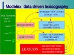 modelex data driven lexicography