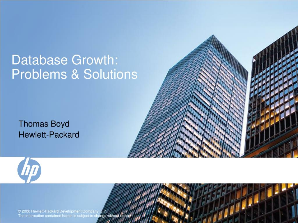 database growth problems solutions l.