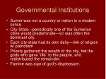 governmental institutions
