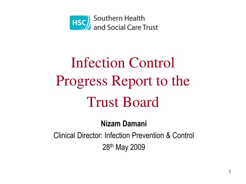 infection control progress report to the trust board l.