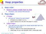 heap properties