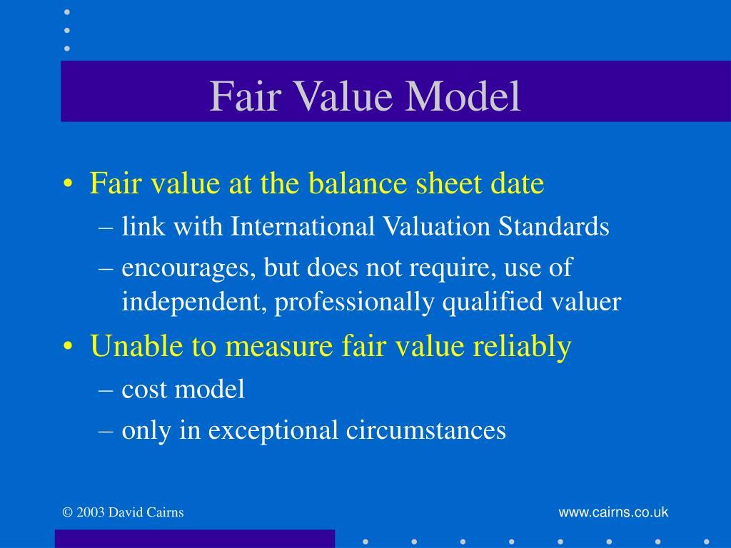 Fair Value Model