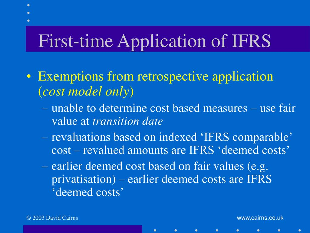 First-time Application of IFRS