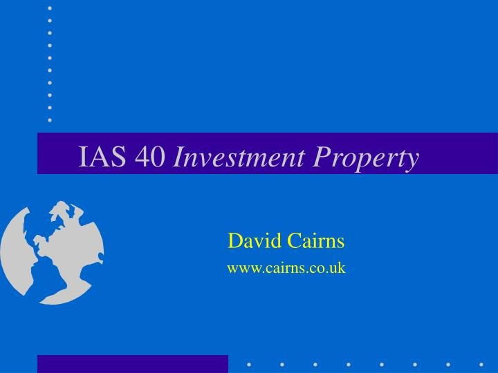 Ias 40 investment property