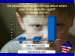 do people say negative things about where your baby ends the night us sample n 4337