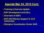 agenda mar 24 2010 cont