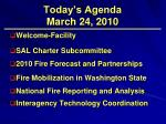 today s agenda march 24 2010