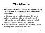 the afikomen26