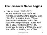 the passover seder begins