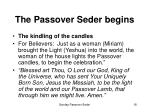 the passover seder begins18