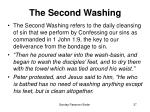 the second washing
