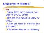 employment models11