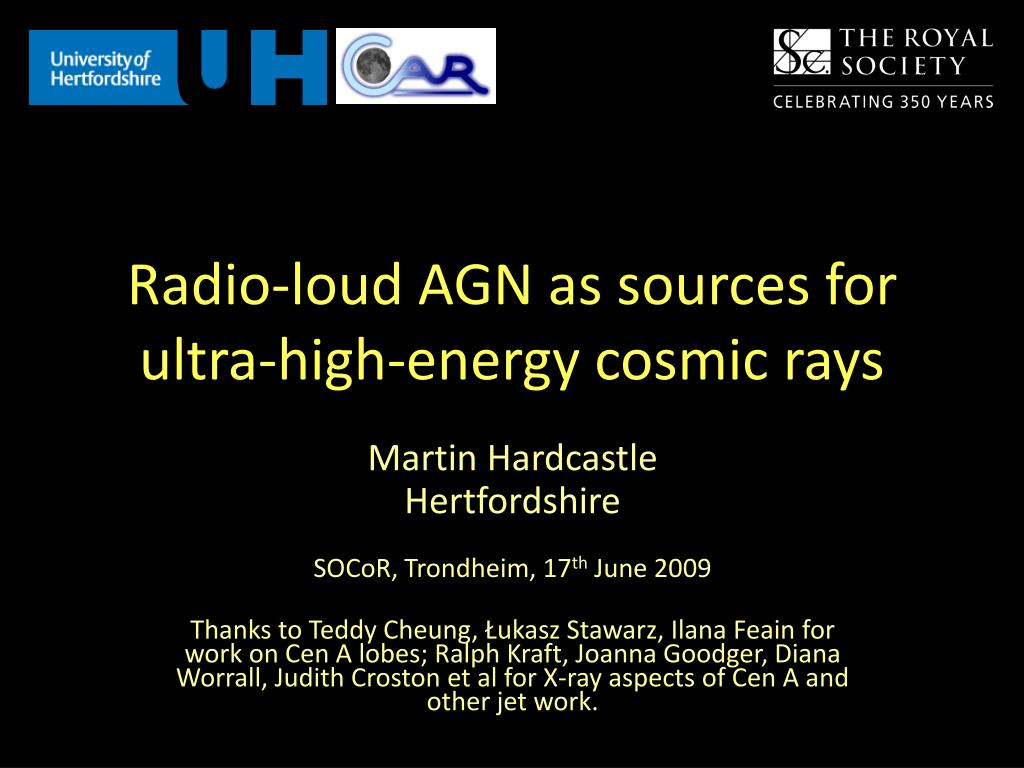 radio loud agn as sources for ultra high energy cosmic rays l.
