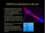 uhecr acceleration in the jet