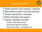 advantages of nmls