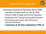 federal safe legislation