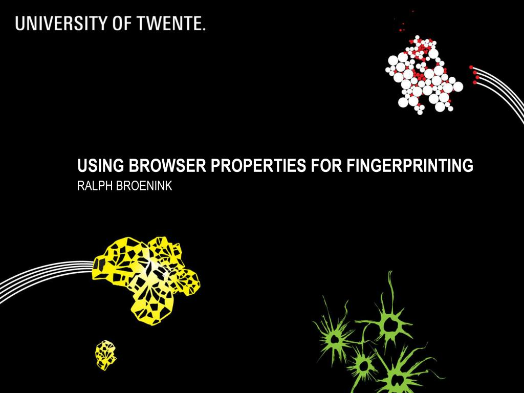 using browser properties for fingerprinting l.