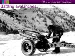 battling avalanches