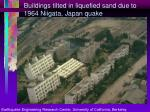 buildings tilted in liquefied sand due to 1964 niigata japan quake