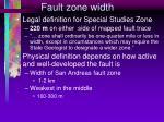fault zone width