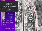 good neighborhood plan