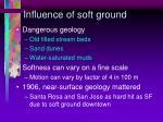influence of soft ground