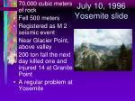 july 10 1996 yosemite slide