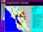liquifaction danger