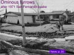 ominous furrows after 1971 san fernando quake