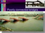 poorly connected bridges