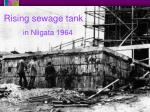 rising sewage tank