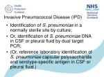 invasive pneumococcal disease ipd
