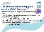 the pneumococcal conjugate vaccine pcv prevenar