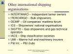 other international shipping organisations