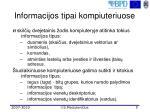 informacijos tipai kompiuter iuose