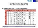 simboli kodavimas35