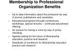 membership to professional organization benefits